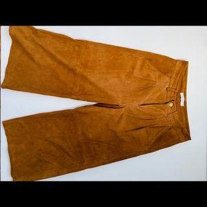 Frame Denim Suede Gaucho Cropped Pant 🥃